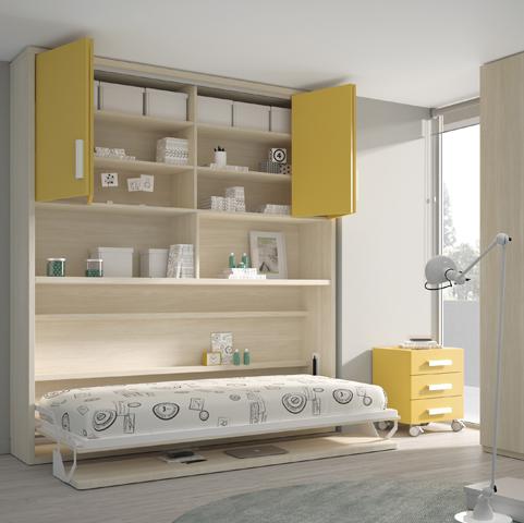 Cama abatible horizontal r71 - Habitacion cama abatible ...