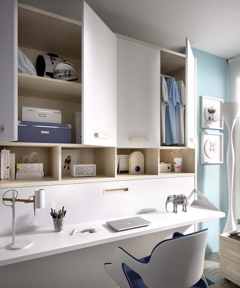 Cama abatible h401 con altillo 4 puertas - Cama abatible horizontal con escritorio ...