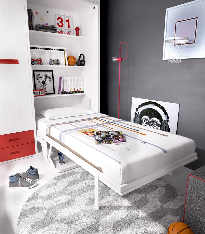 Cama abatible vertical 190x90 h408 con escritorio - Fabricante camas abatibles ...