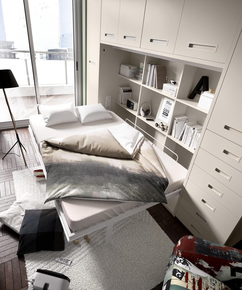 Cama abatible matrimonio horizontal h409 - Sistema cama abatible ...