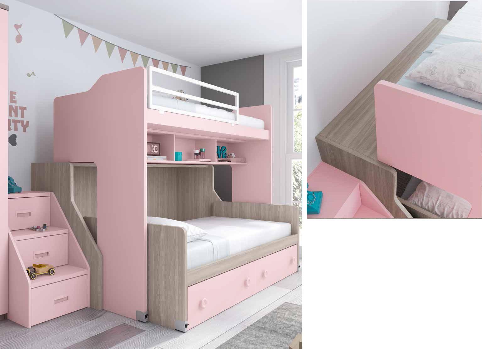Dormitorio juvenil f266 - Quitamiedos para literas ...