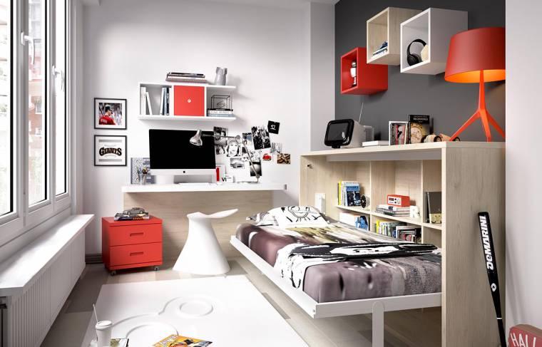 Cama abatible h405 for Habitaciones juveniles economicas